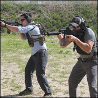 Coyote and Black EOC on the range.