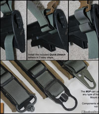 Easily attach the included tethers to your AR-15 or like rifle or use your own favorite hook type.
