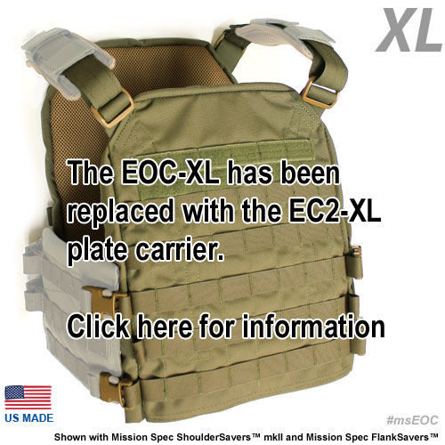 The EOCXL shown with Mission Spec Shoulder Savers mkII™