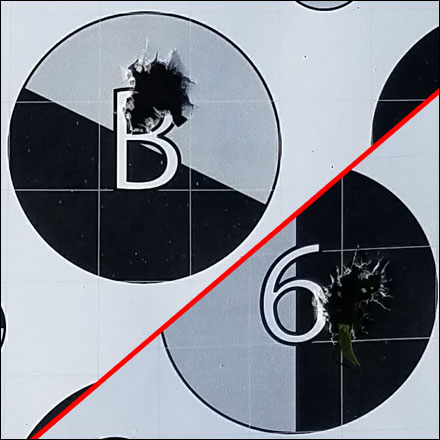 Grey and Black target portion